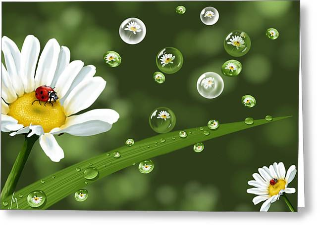 Drops Of Spring Greeting Card by Veronica Minozzi