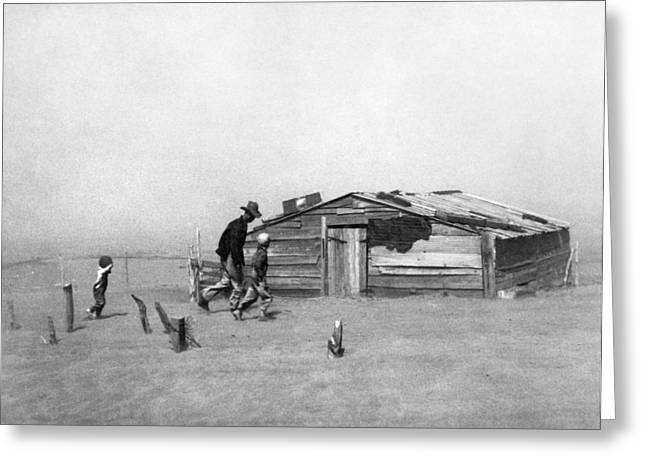 Drought Dust Storm, 1936 Greeting Card by Granger