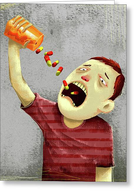Drug Abuse Greeting Card by Fanatic Studio / Science Photo Library