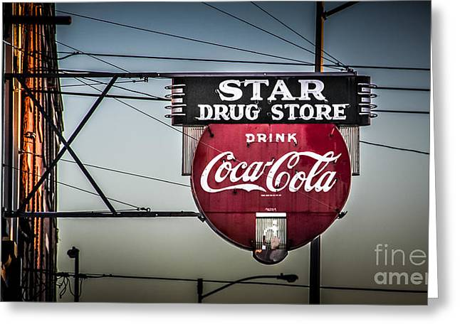 Drug Store Greeting Card by Perry Webster