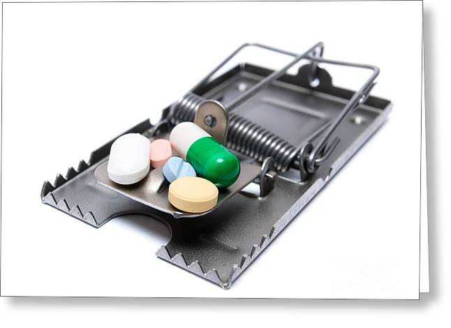 Drug Treatment Risk Greeting Card by Sinisa Botas