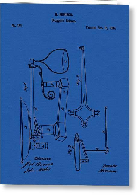 Druggist's Balance Patent Greeting Card