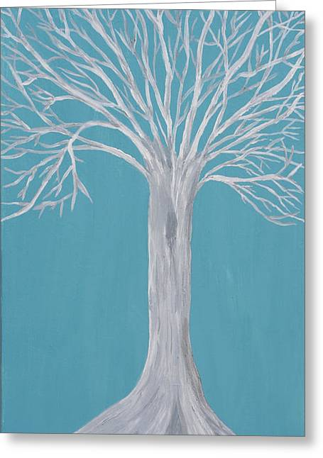Druid Tree 2 Greeting Card by Maura Satchell