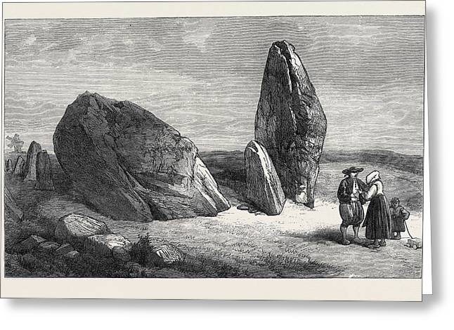 Druidic Remains Of Brittany Stones Of St Greeting Card