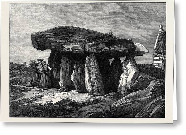 Druidic Remains Of Brittany The Great Dolmen Of Corconne Greeting Card