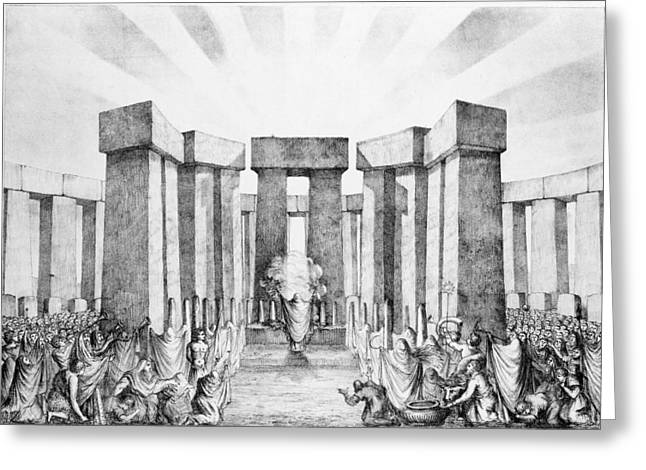Druids Sacrificing To The Sun Greeting Card