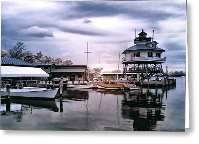Drum Point In Infrared Watercolor Greeting Card