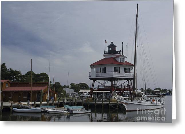 Drum Point Light Greeting Card by ELDavis Photography