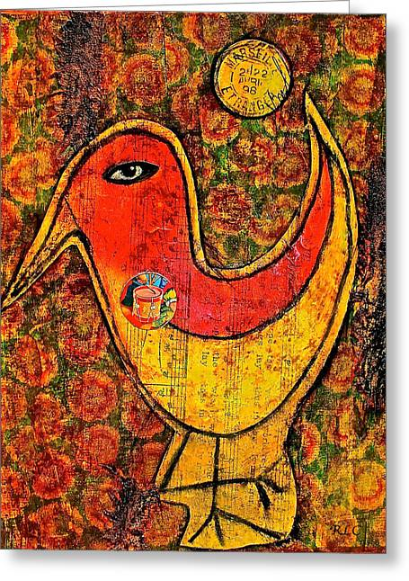 Drummer Bird Greeting Card