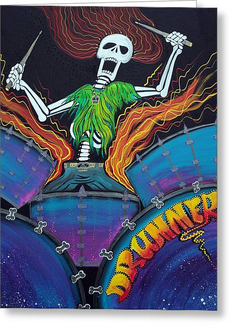 Drummer Of The Dead Greeting Card by Laura Barbosa
