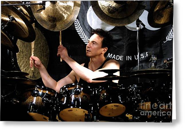 Drummer Terry Bozzio Greeting Card