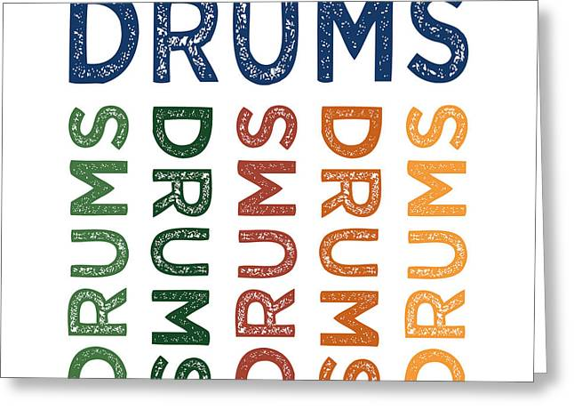 Drums Cute Colorful Greeting Card