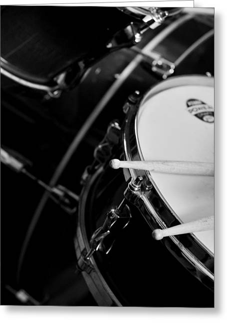 Drums Sticks And Drums Black And White Greeting Card