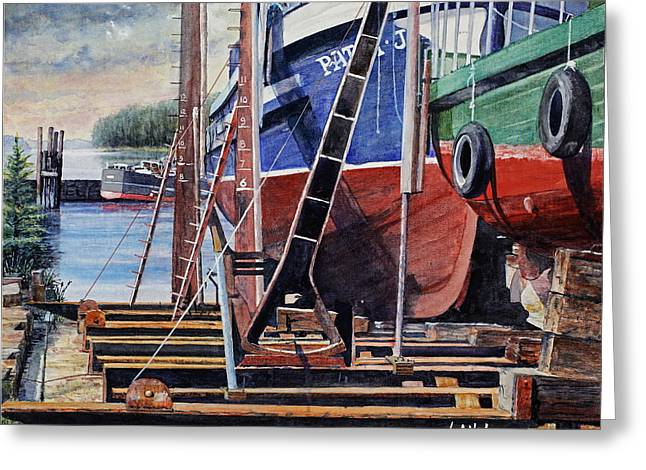 Dry Dock Greeting Card by Bill Hudson