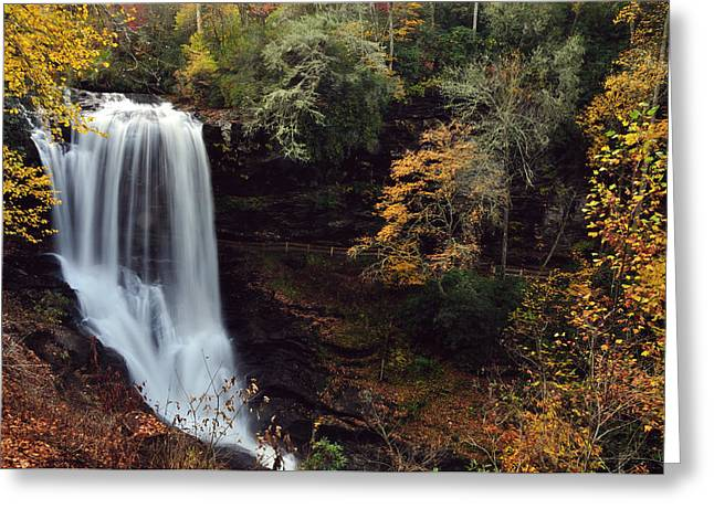 Dry Falls Greeting Card by Adam Paashaus