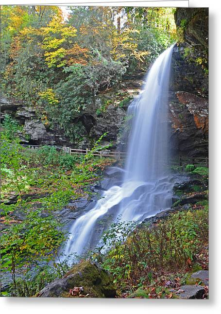 Dry Falls In Highlands Nc Greeting Card by Mary Anne Baker