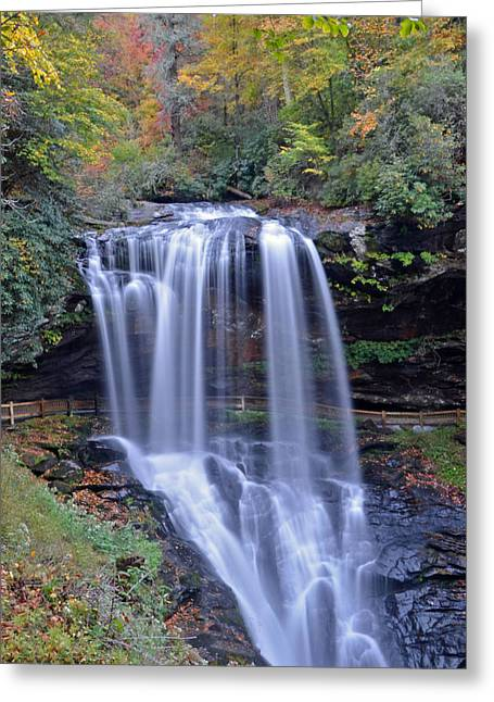 Dry Falls In Highlands North Carolina Greeting Card by Mary Anne Baker