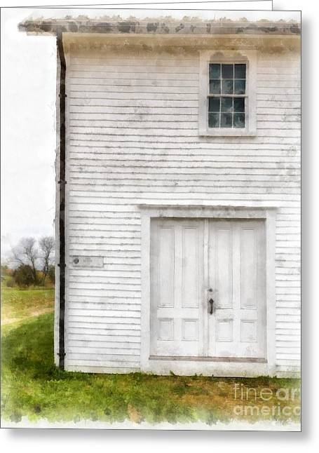 Dry House Canterburry Shaker Villiage Watercolor Greeting Card