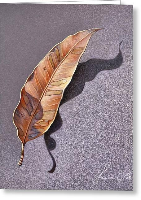 Dry Leaf Greeting Card