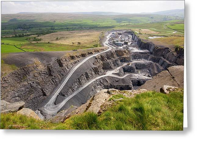 Dry Rigg Quarry At Helwith Bridge Greeting Card