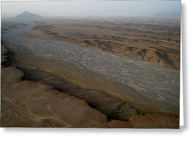 Dry River Bed In Helmand Province Afghanistan Greeting Card