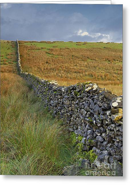 Dry Stone Wall Yorkshire Dales Uk Greeting Card