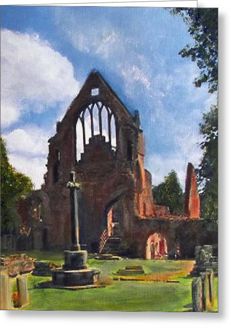 A Space To Cherish Dryburgh Abbey  Greeting Card