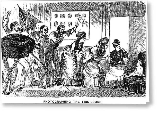 Du Maurier Cartoon, 1876 Greeting Card