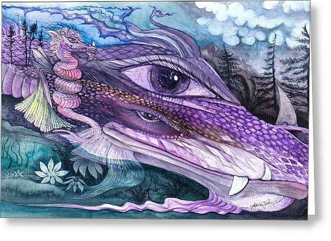 Dual Dragons Greeting Card