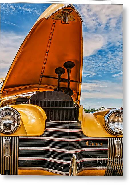 Dual Horn Olds Greeting Card