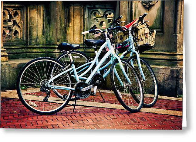 Dual Ride Greeting Card by Laura George