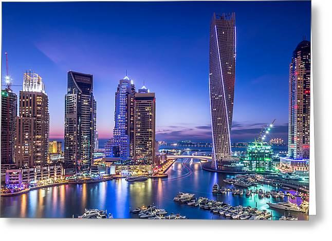 Dubai Marina Greeting Card by Vinaya Mohan