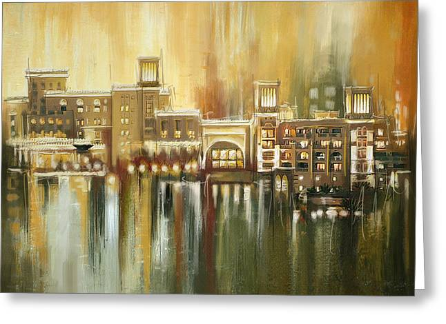 Dubai Monumental Art Greeting Card by Corporate Art Task Force