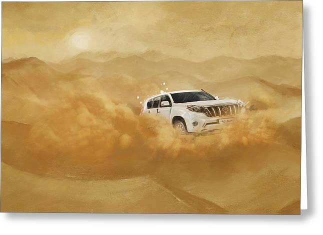 Dubai Safari  Greeting Card by Corporate Art Task Force