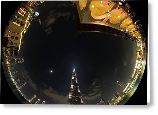 Dubai Skyscrapers Greeting Card by Babak Tafreshi