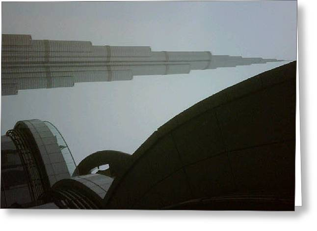 Dubai--the Burj Khalifa Greeting Card by Sueraya Shaheen