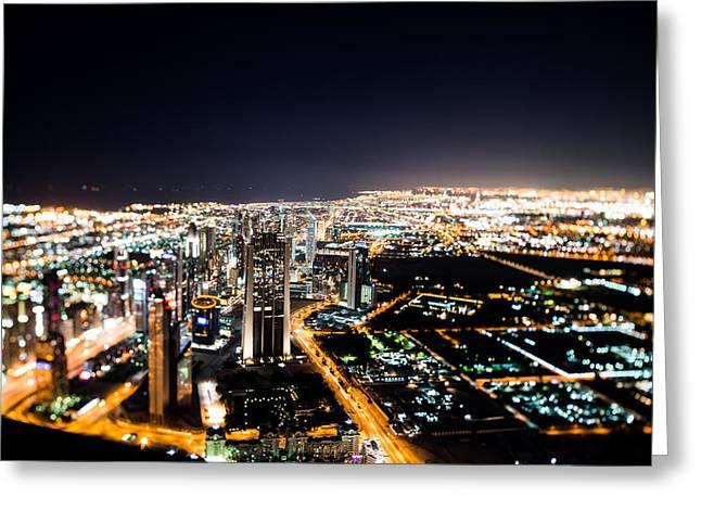Dubai Tilt Shift Greeting Card