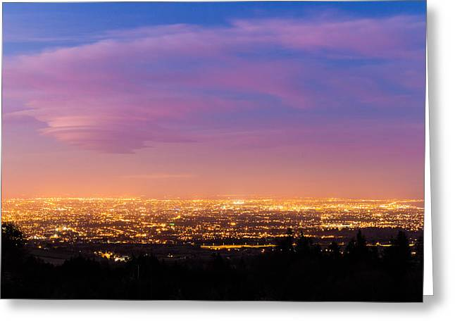 Dublin City At Blue Hour Greeting Card by Semmick Photo