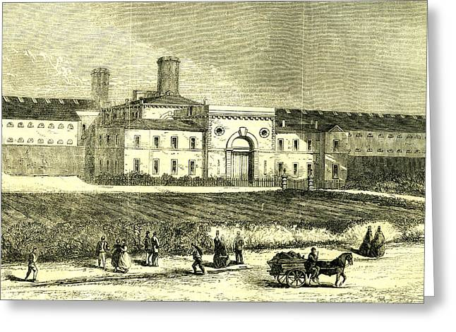 Dublin Ireland 1866 Mountjoy Prison Greeting Card by Irish School