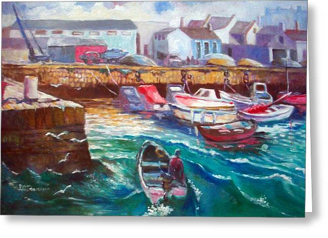 Greeting Card featuring the painting Dublin Ireland Bullock Harbour by Paul Weerasekera