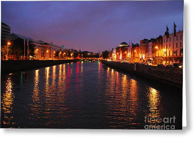 Greeting Card featuring the photograph Dublin Nights by Mary Carol Story