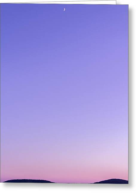 Dubrovnik Sunset And Moon Greeting Card