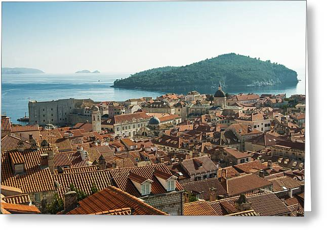 Dubrovnik View To The Sea Greeting Card