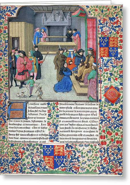Duc De Berry Receives The Book Greeting Card by British Library