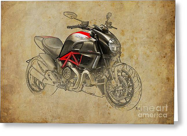 Ducati Diavel Carbon 2011 Greeting Card by Pablo Franchi
