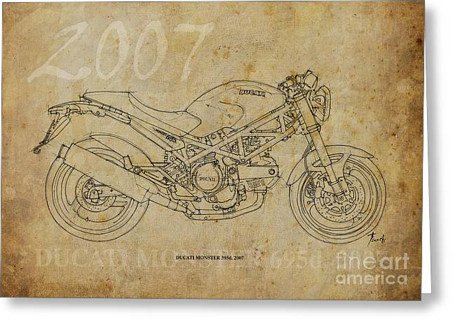 Ducati Monster 695d 2007 Greeting Card by Pablo Franchi