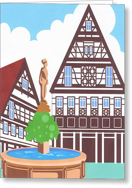 Dutch Architechure Greeting Card by Pat Mchale