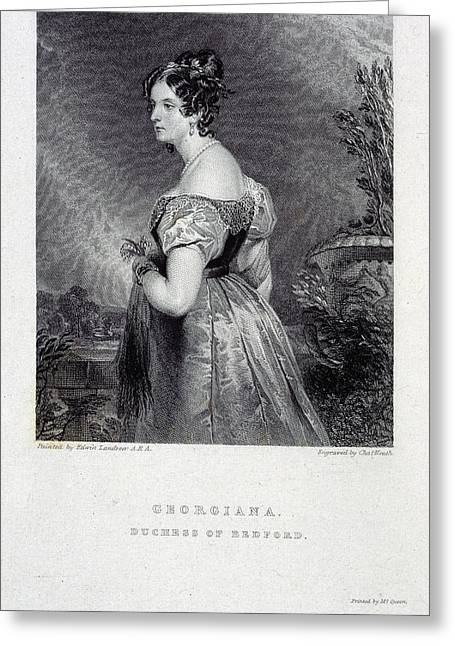 Duchess Of Bedford Greeting Card by British Library