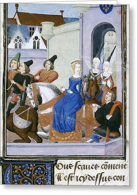 Duchess Of Orleans Leaves Paris Greeting Card