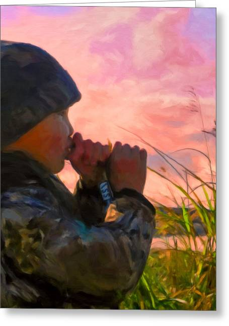 Duck Call Greeting Card by Michael Pickett
